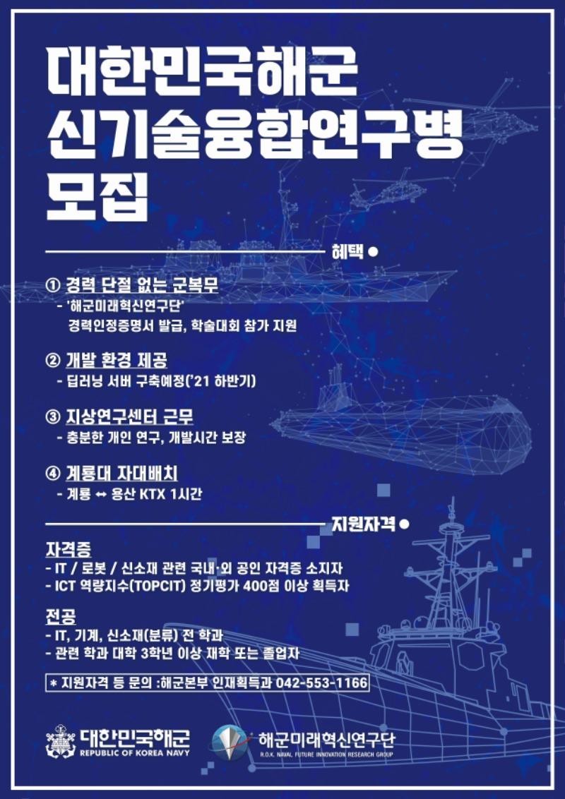 붙임. 해군신기술융합연구병 모집 포스터.jpg